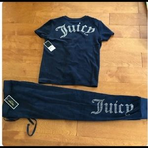 Juicy couture gothic crystal top & zuma pant S